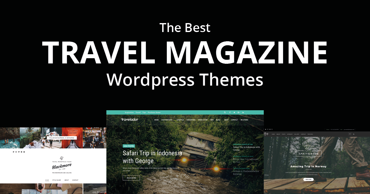 Best Travel Wordpress Themes 2019